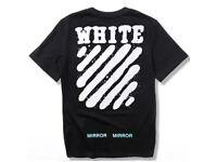 Men's Off White T shirt // Sweatshirt Jumper Black