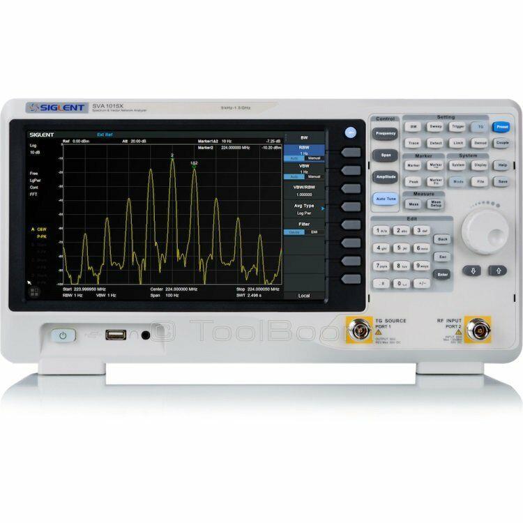 SIGLENT SVA1015X Spectrum Vector Analyzer  9 kHz up to 1.5 GHz with TG Option