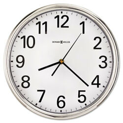 Howard Miller Hamilton Wall Clock 12 Silver 1 AA 625561