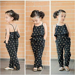 Girls Kids Newborn One Piece Playsuit Jumpsuit T Shirt Pants Outfit Clothes 2 7Y | EBay