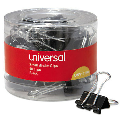 Universal Small Binder Clips 38 Capacity 34 Wide Black 40pack 11140