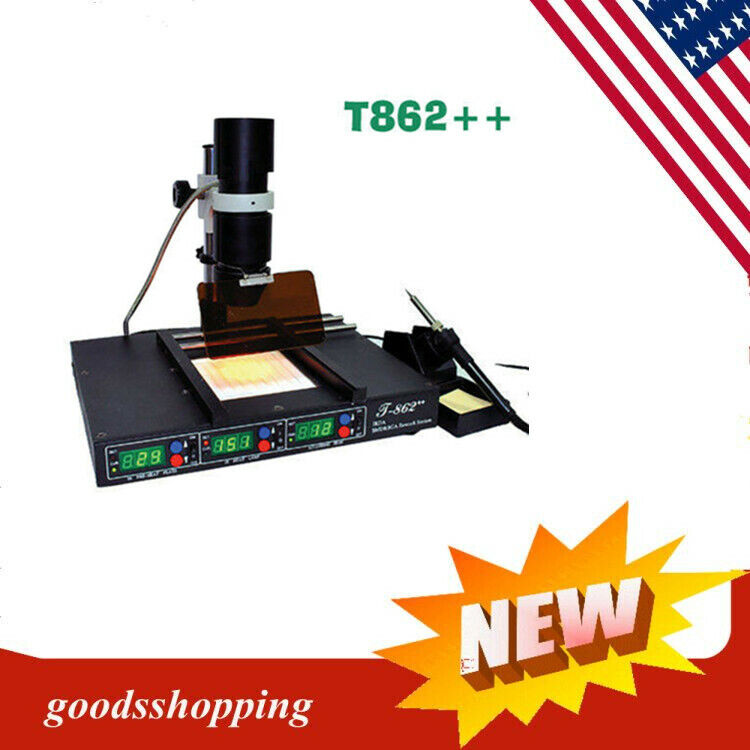 New T862++ IRDA Welder Infrared SMT SMD BGA Rework Station