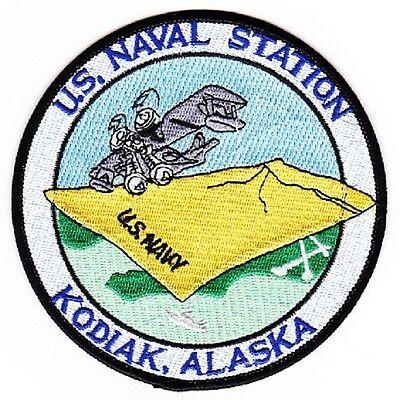 US Naval Station KODIAK, ALASKA Military Patch - Navy USN