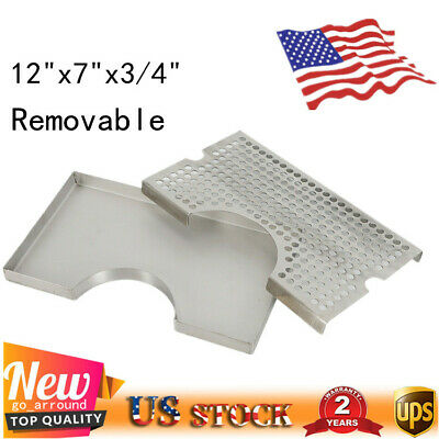 12 X 7 Surface Mount Drip Tray Stainless No Drain For Draft Beer Kegerator