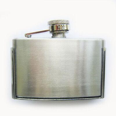 Blank Three oz Stainless Steel Flask Belt Buckle Gurtelschnalle also Stock in US