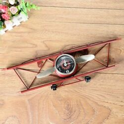 Retro Airplane Wall Clock Aircraft Model Creative Vintage Room Decoration Clocks