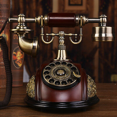 Retro wood noble European Luxury Antique phone Vintage corded telephone F039