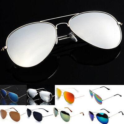 Vintagee Sunglasses Womens Men Eyewear Metal Frame Oversized Fashion Mirror Lens