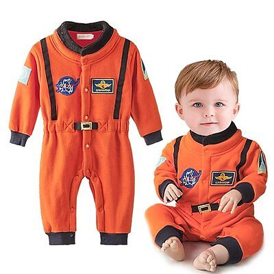 Astronaut Girl Costume (Baby Boy Girl Spaceman Astronaut Carnival Fancy Party Costume Outfit)