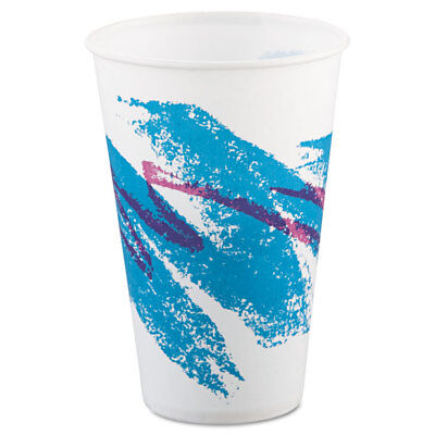 12 Oz Waxed Cold Cup - SOLO Jazz Waxed Paper Cold Cups, 12oz, Tide Design, 2000/Carton R12NJ
