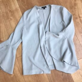 Baby blue Topshop blazer style top/jacket