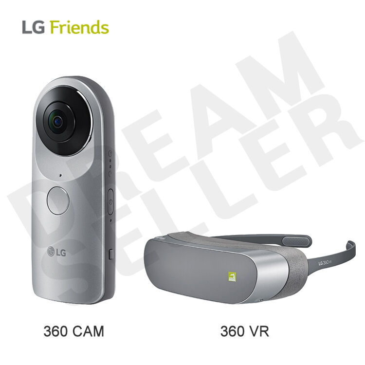 LG G5 Friends R105 360 Cam Portable Compact + Gear 360 VR R100 Virtual Reality