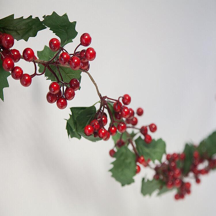 Künstlich Heilig und Beere Weihnachten Girlande Wimpel 140cm Kamin Kaminsims