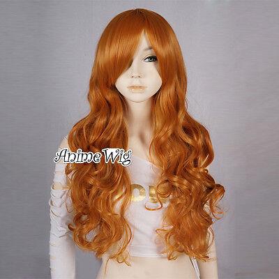Coslay Perücke Wig Halloween mit Pony Stylish Halloween Haare Orange Karneval DE ()