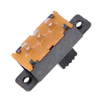 10pcs Ss12f32-g5 2 Position 1p2t Spdt Panel Vertical Slide Switch Solder Lug