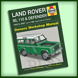 2002 land rover defender audio system circuit wiring diagram land rover defender diesel - haynes workshop manual 1983 ... #9
