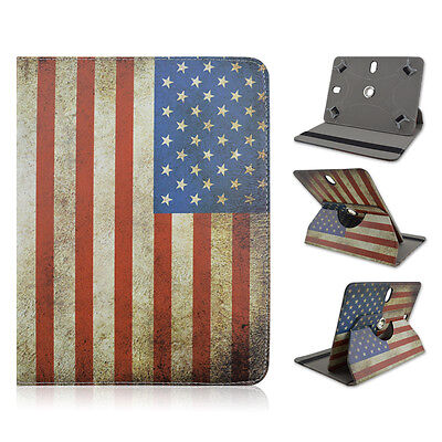 For Ematic Genesis Prime 8 inch Tablet USA American Flag Case