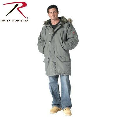 9467 Rothco Olive Drab Size Large Vintage N-3b Cold Weather Parka With Hood