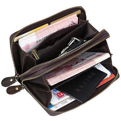 Herren Leder Geldbörsen Etuis portemonnaie brieftasche braun iPhone 6 plus coin - Brieftasche Braun Herren Portemonnaies