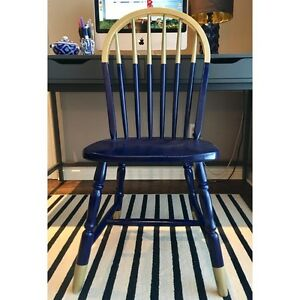 Navy and gold chair