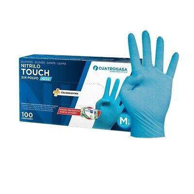 Guantes desechables azules nitrilo sin polvo 100 unidades Talla xL