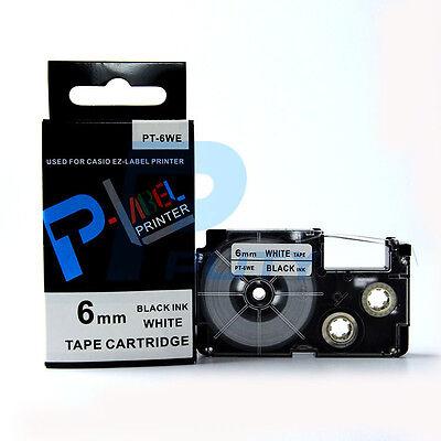 Compatible Casio Xr-6we Black On White 6mm 8m Label Tape Kl100 Kl-120 14 X 26