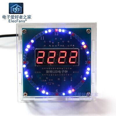 Need Weld Rotating Led Electronic Clock Kit Ds1302 Digital Tube Electronic Diy