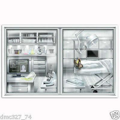 HALLOWEEN Murder Mystery CSI Party Decoration Prop Wall Mural LABORATORY - Murder Mystery Halloween Party