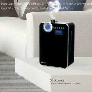PureGuardian® H8000BCA 120-Hour Elite Ultrasonic Warm and Cool Mist Humidifier with Digital Smart Mist Sensor