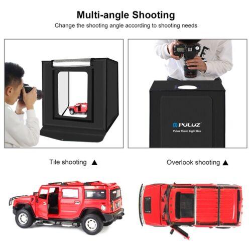 "PULUZ Photo Box 16"" 40cm Photo Studio Light Box Photography Shooting Tent 6 Clrs"