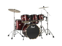 Pearl Forum Drum Kit with stands/mutes/cases
