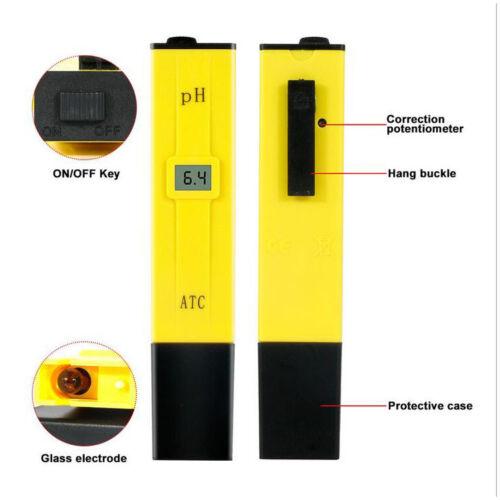 Digital Ph Meter Aquarium Pool Hydroponic Water Monitor 0-9999 PPM Tester