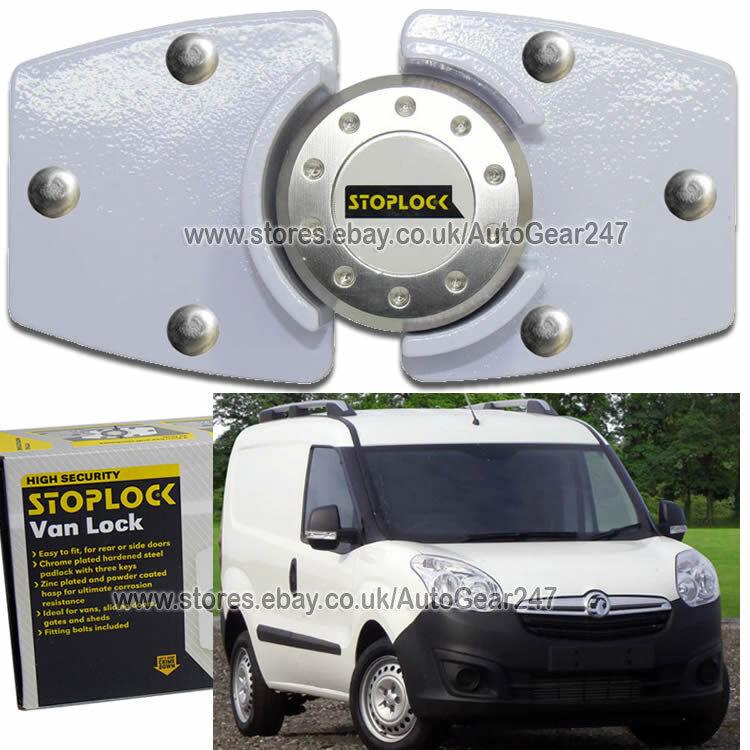 White Stoplock Vauxhall Opel Combo High Security Anti