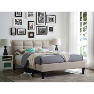 Queen Fabric Upholstered Bed New