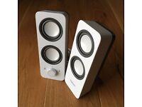Logitech Z200 speaker – snow white