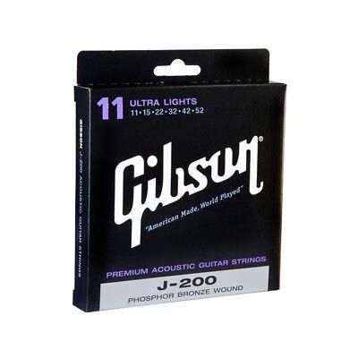 Super Gibson Western Saiten J200L Phosphor Bronze Light .012 .053 Made in USA