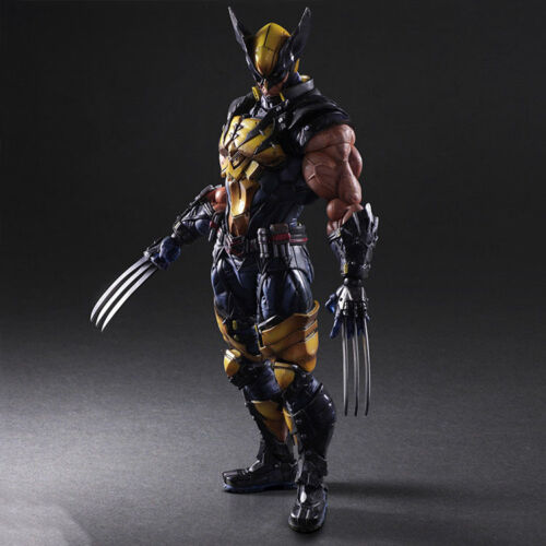 !!!HOT Play Arts Kai Wolverine X-MEN PVC Action Figure Toy Model Statue 28cm Neu