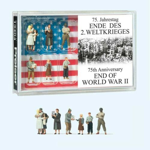 NEW 2021 HO Preiser 13404 Military / Civilian Figures END OF WORLD WAR II