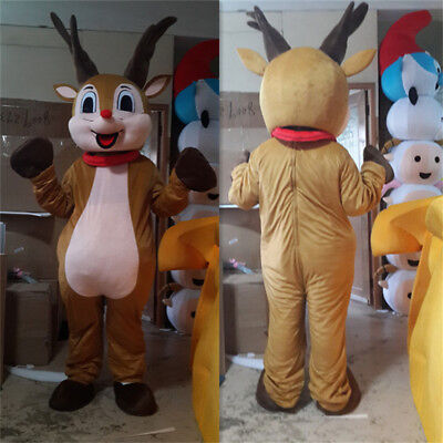 Reindeer Mascot Costume Festival Party Adult Parade Cosplay Lovely Global Best  - Best Custom Made Halloween Costumes