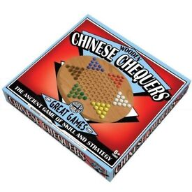 Wooden Chinese Chequers **new unused**