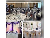 EVENTS DECORATIONS. Throne sofa,Centrepiece, arm chair cover, table/chair cover & sash also for hire