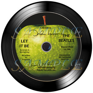 The-Beatles-Let-It-Be-CD-Disc-with-Autographs-with-7-inch-Vinyl-Record-Frame