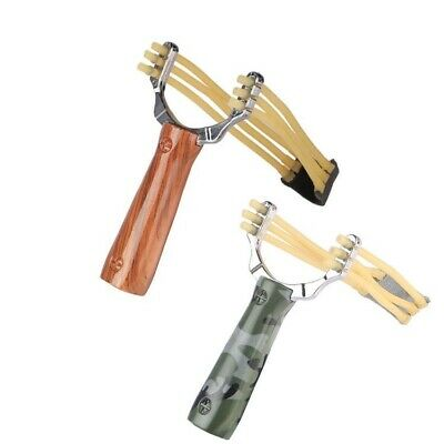 Aluminium Alloy Wooden Slingshot Outdoor Game Powerful Steel Ball Catapult Tools