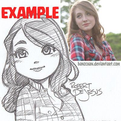 Robert DeJesus Pencil Portrait Sketch