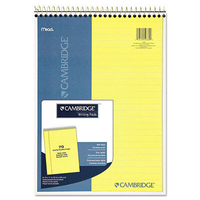 Cambridge Stiff Back Wire Bound Notebook Legal Rule 8 12 X 11 Canary Paper 70