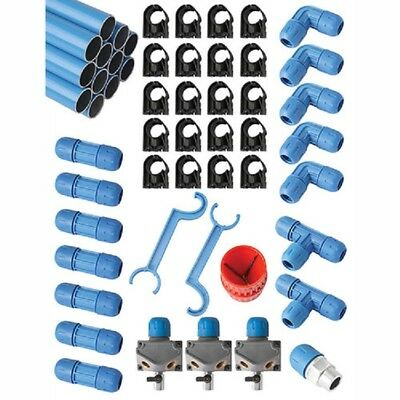 New Fastpipe Rapidair F28075 34 Master Kit 100 Ft. 3 Outlets