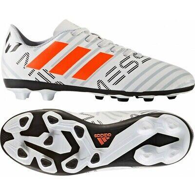 Kids adidas 17.4 FXG Messi Nemeziz Junior Moulded Studs Football Boots White