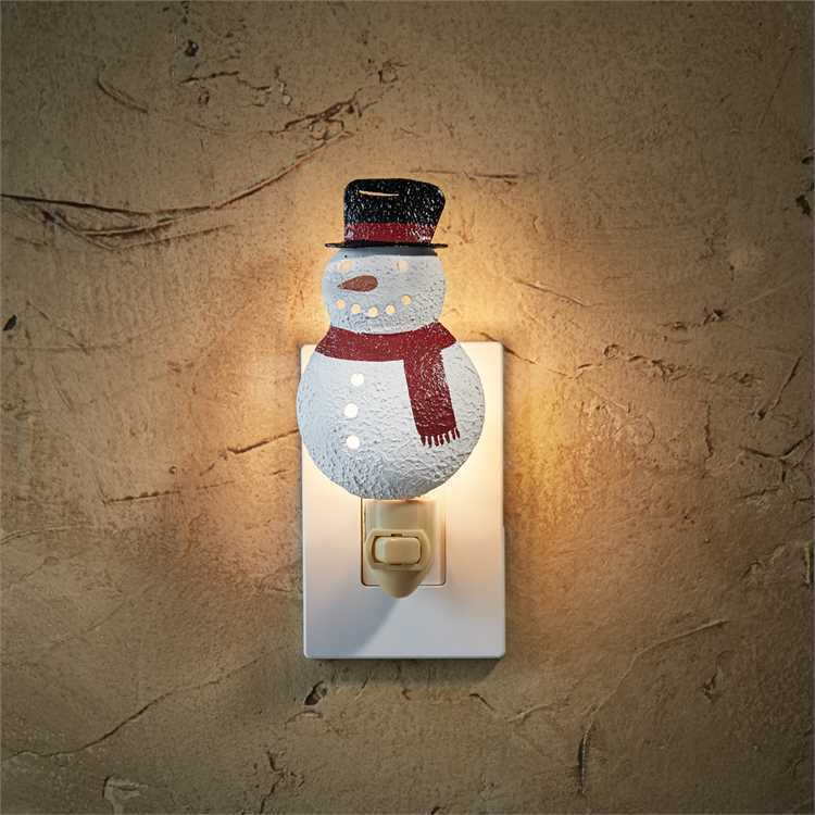 Snowman Night Light w/ Switch by Park Designs - Christmas Wi