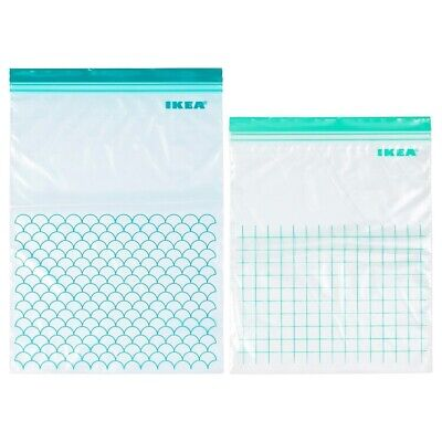 ISTAD Resealable bag, turquoise,uses over n over Freezer-safe temp up to 50°C.