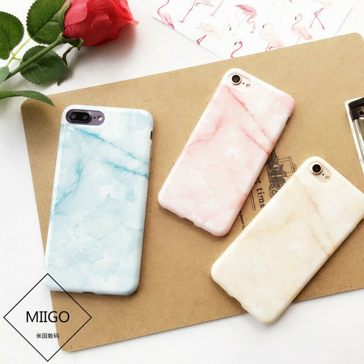 For Girl Fresh Cute Marble Stone Texture Soft Case For